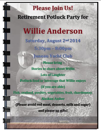Willie's Retirement Flyer