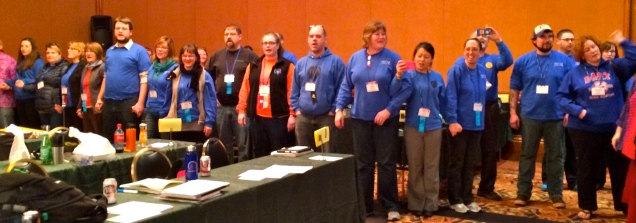 State Tradition: Singing the Alaska Flag Song at the close of the Delegate Assembly