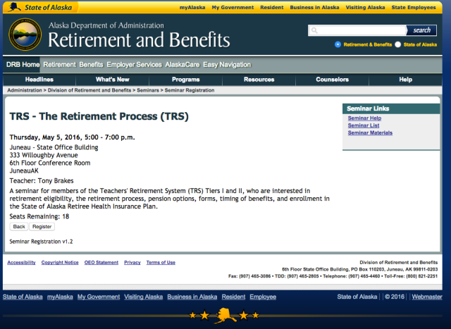 TRS - The Retirement Process